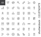 airport outline icons set.... | Shutterstock .eps vector #1113762473