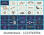 set of analysis or marketing... | Shutterstock .eps vector #1113763556