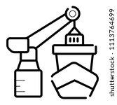 shipment vector icon port sea...   Shutterstock .eps vector #1113764699