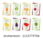 vegetable posters  banners for... | Shutterstock . vector #1113775706