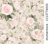 watercolor seamless pattern of... | Shutterstock . vector #1113776033