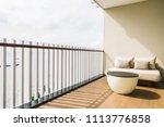 comfortable pillow on sofa... | Shutterstock . vector #1113776858