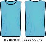 blue safety vest. vector... | Shutterstock .eps vector #1113777743