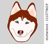 illustration of brown husky...   Shutterstock .eps vector #1113778619