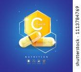 nutrition logo label vector... | Shutterstock .eps vector #1113784769