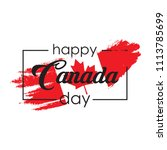 happy canada day greeting card. ... | Shutterstock .eps vector #1113785699