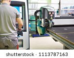machine for cutting  grinding... | Shutterstock . vector #1113787163