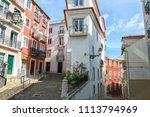 narrow winding street in the... | Shutterstock . vector #1113794969