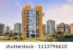 city residential building... | Shutterstock . vector #1113796610