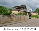 A Scaffold Tower Attached To A...
