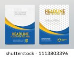 layout template design of the... | Shutterstock .eps vector #1113803396