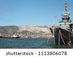 soviet cruiser mikhail kutuzov  ...   Shutterstock . vector #1113806078