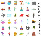 human resource icons set.... | Shutterstock . vector #1113809216