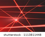 crossed red laser beams on... | Shutterstock .eps vector #1113811448