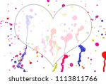 abstract watercolor on white... | Shutterstock . vector #1113811766