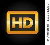 hd resolution golden icon for... | Shutterstock .eps vector #1113813380