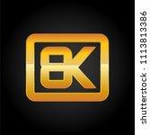 8k resolution golden icon for... | Shutterstock .eps vector #1113813386