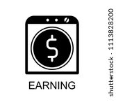 earning icon. element of seo... | Shutterstock . vector #1113828200