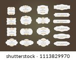 vector of vintage frame set on... | Shutterstock .eps vector #1113829970