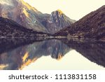 beautiful mountains landscapes... | Shutterstock . vector #1113831158