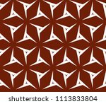 seamless pattern with symmetric ... | Shutterstock .eps vector #1113833804