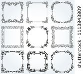 decorative frames and borders... | Shutterstock .eps vector #1113843809