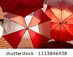 display of red and white... | Shutterstock . vector #1113846458