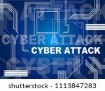 cyber attack threat by north... | Shutterstock . vector #1113847283