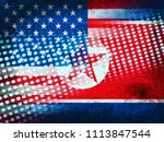 north korea and usa agreement... | Shutterstock . vector #1113847544