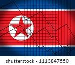 north korean economy and... | Shutterstock . vector #1113847550