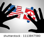 north korean and us security... | Shutterstock . vector #1113847580