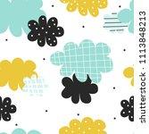 cute scandinavian cloudy... | Shutterstock .eps vector #1113848213