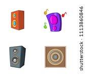 speaker icon set. cartoon set...   Shutterstock . vector #1113860846
