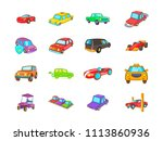 car icon set. cartoon set of... | Shutterstock . vector #1113860936
