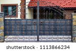 wrought iron gates  ornamental... | Shutterstock . vector #1113866234
