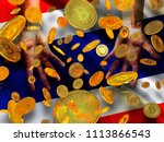 bitcoin crypto currency... | Shutterstock . vector #1113866543