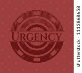 urgency retro style red emblem | Shutterstock .eps vector #1113868658