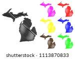 michigan map vector... | Shutterstock .eps vector #1113870833