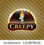 gold emblem w shiny emblem...   Shutterstock .eps vector #1113878420