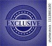 exclusive badge with denim...   Shutterstock .eps vector #1113881630