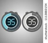 electronic digital stopwatch.... | Shutterstock .eps vector #1113883154