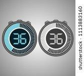 electronic digital stopwatch.... | Shutterstock .eps vector #1113883160
