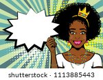 elegance princess pop art... | Shutterstock .eps vector #1113885443