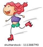 Illustration Of A Roller Girl