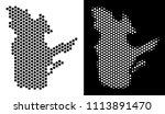 hexagon quebec province map.... | Shutterstock .eps vector #1113891470