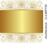 creamy and gold background with ... | Shutterstock .eps vector #111389750