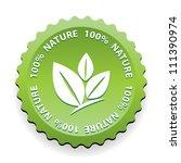 100 percent nature green sign... | Shutterstock . vector #111390974