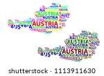 sketch austria letter text map  ... | Shutterstock .eps vector #1113911630
