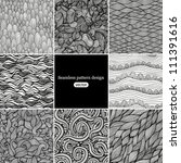 set 2 eight black and white... | Shutterstock .eps vector #111391616