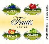 fruits. vector. grapes ... | Shutterstock .eps vector #111391853